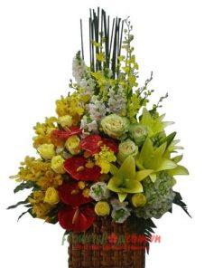 những lẵng hoa đẹp tặng sinh nhật