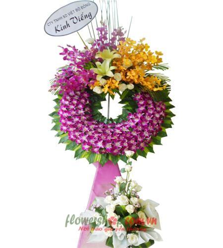 đặt vòng hoa tang lễ tại quận 3 | HV 9466
