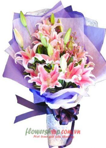 bó hoa đẹp tặng 20-10