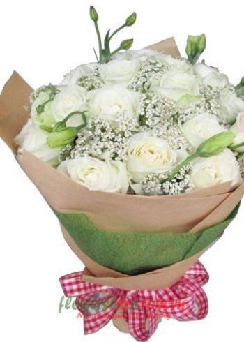 những bó hoa hồng trắng đẹp nhất