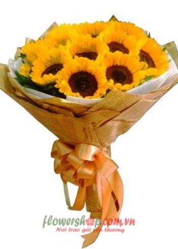 hoa bó tặng