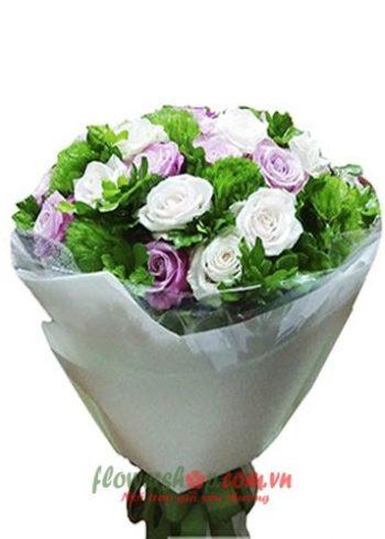 bó hoa hồng tặng cô