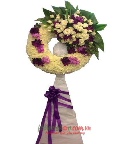 đặt vòng hoa đám tang tại quận 3 | HV 9465