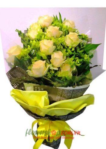 những bó hoa hồng mừng sinh nhật