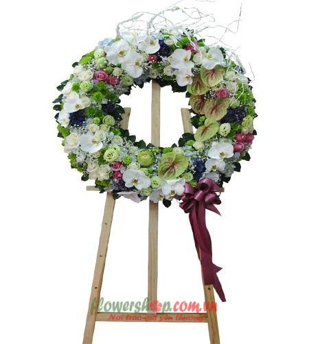 đặt vòng hoa viếng đám tang tại quận 3 | HV 9464