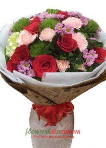 những bó hoa đẹp ngày 8-3