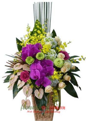lẵng hoa đẹp ngày 8-3