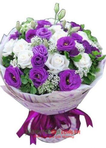 những bó hoa đẹp mừng 8-3