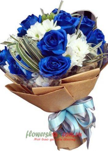 những bó hoa hồng xanh đẹp nhất
