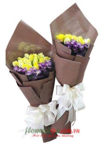 những bó hoa hồng vàng đẹp nhất