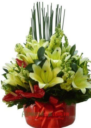 Giỏ hoa lily