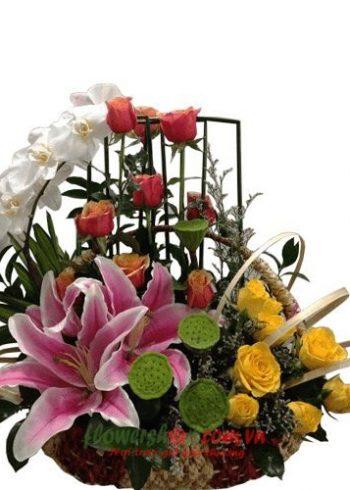 giỏ hoa mừng ngày 14-2