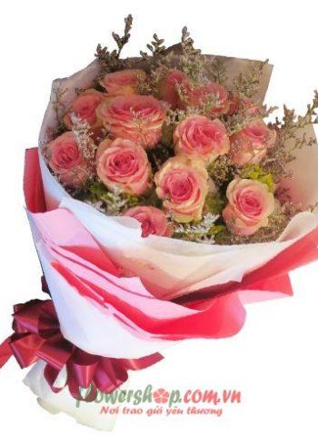 những bó hoa hồng đẹp ngày 14-