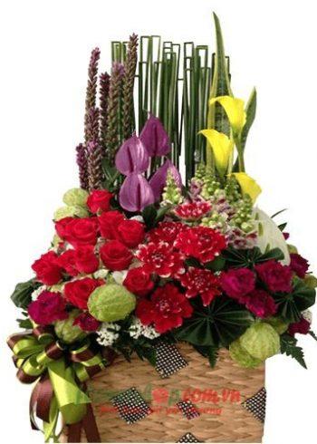 lẵng hoa đẹp ngày 20-11