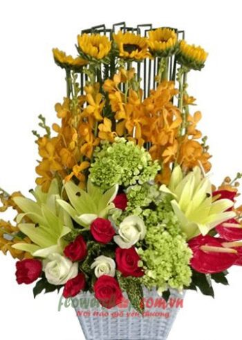 giỏ hoa đẹp 8-3