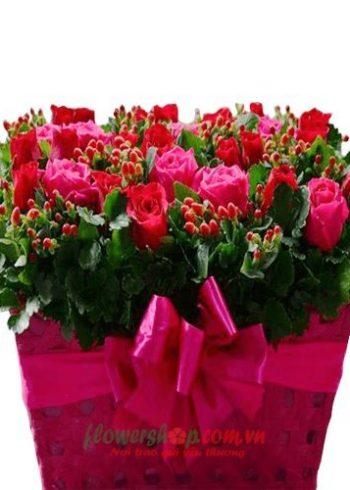 lẵng hoa đẹp tặng sinh nhật