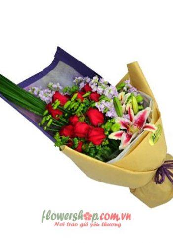 những bó hoa đẹp trong ngày valentine