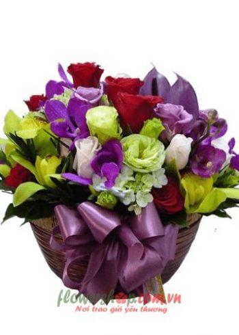 lẵng hoa đẹp nhất ngày 20-10