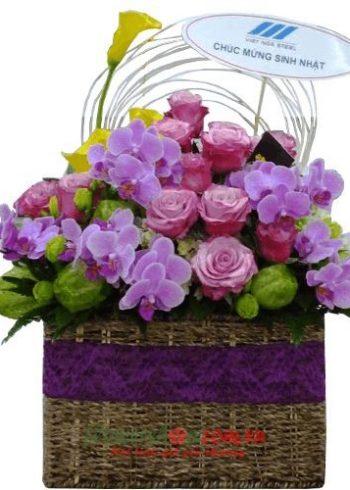 những lẵng hoa đẹp nhất ngày 8-3