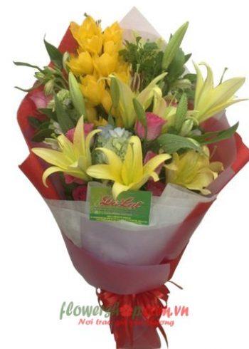 bó hoa tặng 14-2