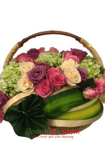 những lẵng hoa đẹp ngày 20-10