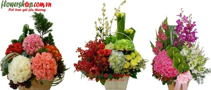 những mẫu hoa sinh nhật tại flower shop