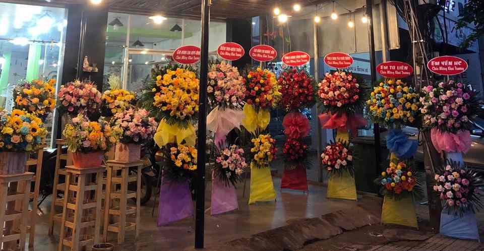 Các mẫu hoa khai trương tại Shop Hoa Tươi Gò Dầu