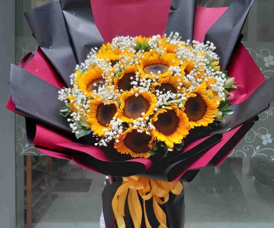bó hoa hướng dương đặt online tại quận 9