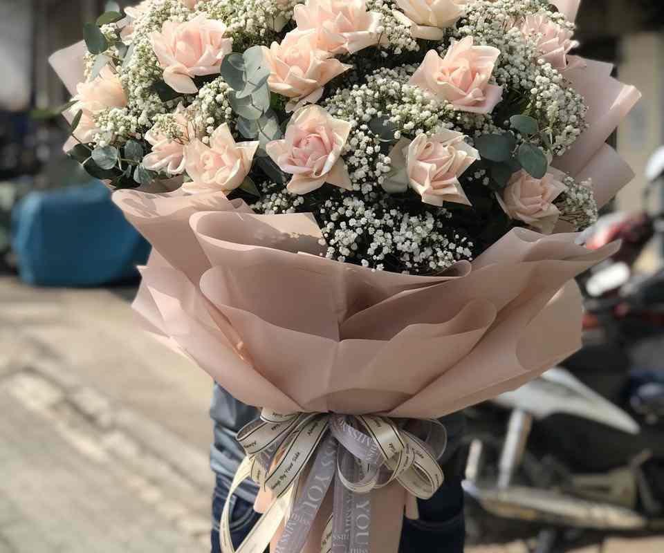 bó hoa hồng sang trọng