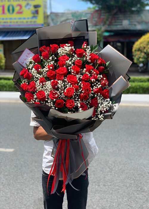 bó hoa tặng người thương