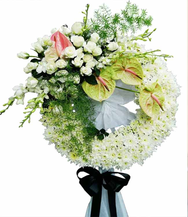 Đặt vòng hoa tang lễ tại quận Tân Phú