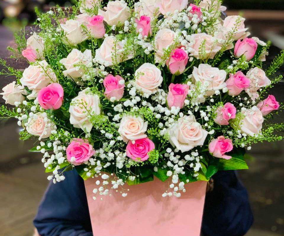 Mẫu hoa được đặt online tại shop hoa tươi Hậu Giang