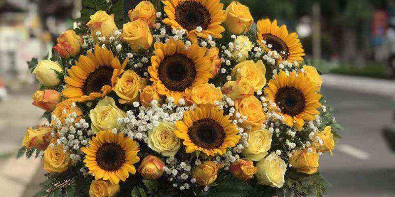 Mẫu hoa sinh nhật được đặt online tại shop hoa tươi Kiên Giang