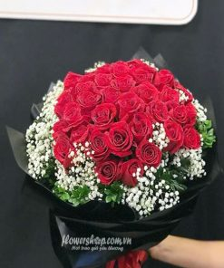 bó hoa hông đỏ 30 bông, baby