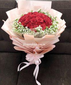 bó hoa hồng đỏ 30 bông