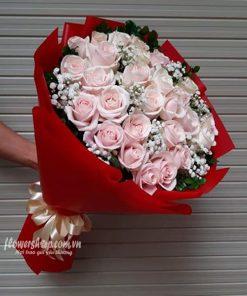 bó hoa hồng da 30 bông
