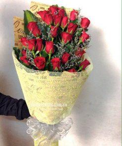 hoa hồng đỏ bó dài (2)