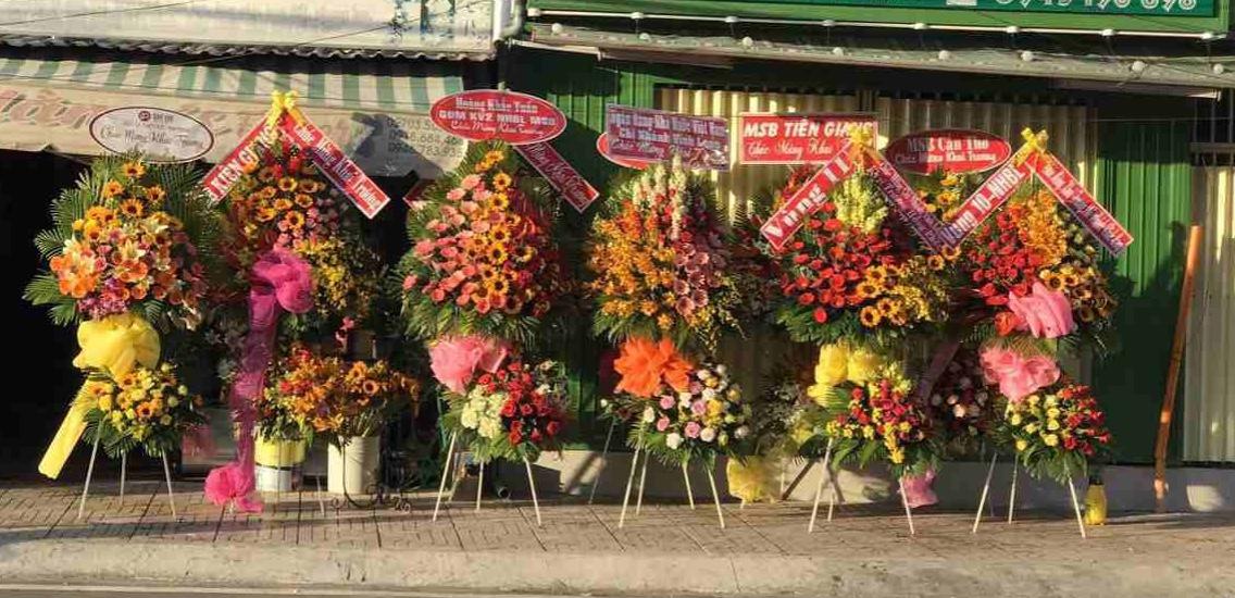 Hoa được đặt online tại flower shop