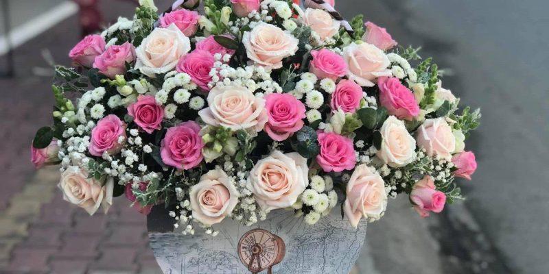 giỏ hoa cho dịp sinh nhật khách hàng tại long an