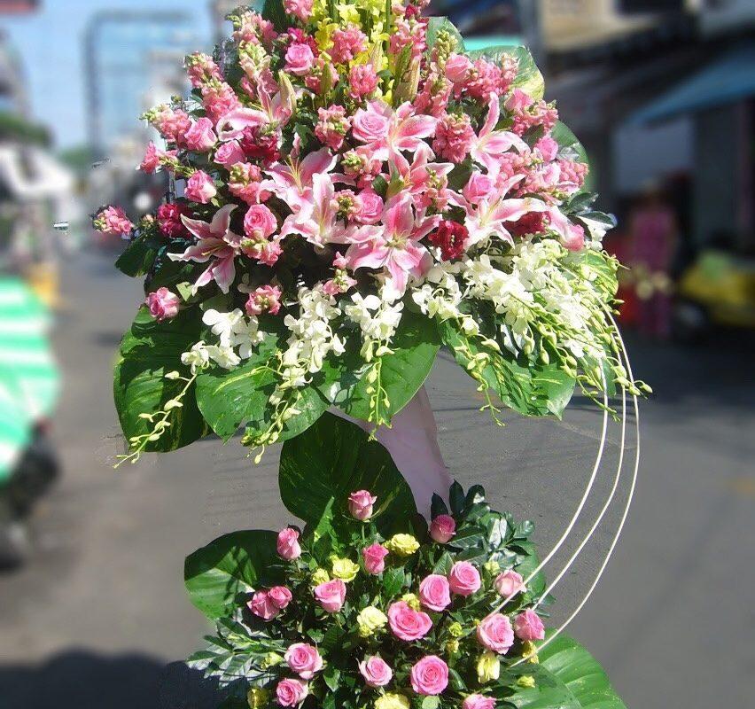 Hoa khai trương tại shop hoa tươi Trảng Bàng