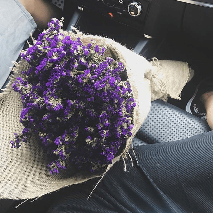 Mẫu Bó Hoa Salem tím tại shop